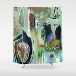 """Dream Alive"" Original Painting by Flora Bowley Shower Curtain"