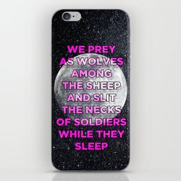 We Prey As Wolves iPhone Skin