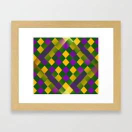 Harlequin Mardi Gras pattern Framed Art Print