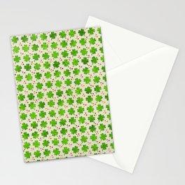 Irish Shamrock Four-leaf clover pattern Stationery Cards
