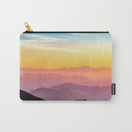 MOUNTAINS - LANDSCAPE - PHOTOGRAPHY - RAINBOW Carry-All Pouch