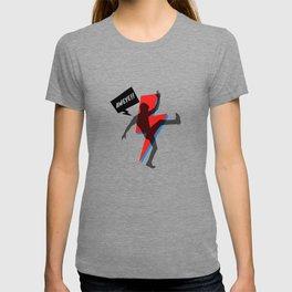 Stardust Blue & Red 80s 90s pop style | Black Silhouette Retro Comic Strip AWEYE! T-shirt