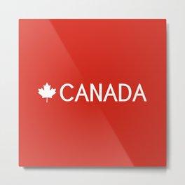 Canada: Maple Leaf Metal Print