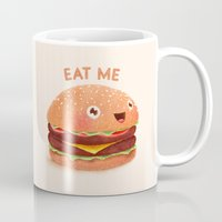 burger Mugs featuring Burger by Lime