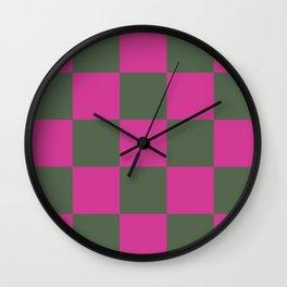 Pretty Chessboard Leana Wall Clock