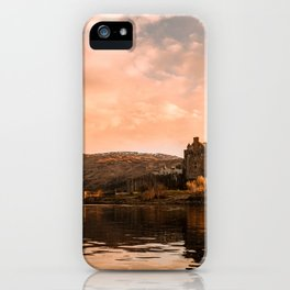 Elian Donan Castle in Scotland during Sunset – Landscape Photography iPhone Case