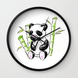 Digital Charcoal Panda (without glimmer) Wall Clock