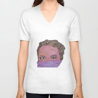 sister V-neck T-shirts featuring sister by Elide G