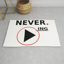 Never stop playing Rug