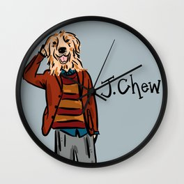 J.Chew Dog Wall Clock