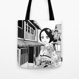 Kimono girl (manga style drawing) Tote Bag