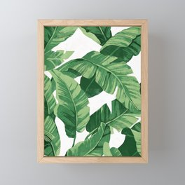 Tropical banana leaves IV Framed Mini Art Print