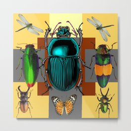 BUGGY INSECT LOVERS ART Metal Print
