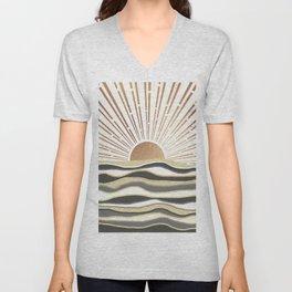 Sun Breeze-Vanilla shade Unisex V-Neck
