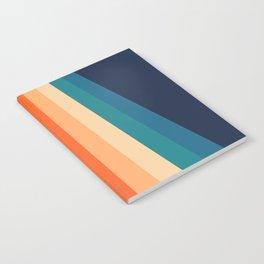 Retro Classic 70's Stripes Notebook