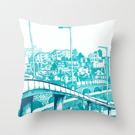 Han River Seoul Throw Pillow