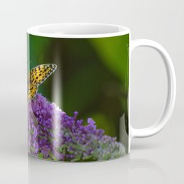 Dark Green Fritillary Butterfly Coffee Mug