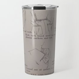 Vintage 1940s Style and Sewing Travel Mug