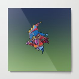 Colombia Verde Azul Metal Print