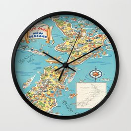 Vintage poster - New Zealand Wall Clock