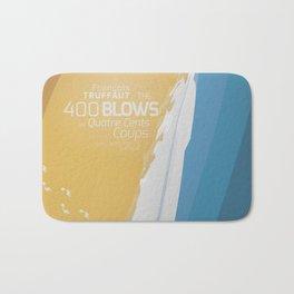The 400 Blows, les Quatre cents coups, François Truffaut, minimalist movie poster, Jean-Pierre Léaud Bath Mat