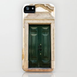 Old door in Tavira, Portugal iPhone Case