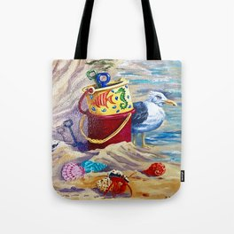 Nantucket Seagull Tote Bag