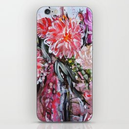 A LIFE TIME BANQUET- DAHLIAS- abstract floral still life by HSIN LIN / H.Lin the Artist iPhone Skin
