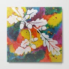 Leaves on the World Tree: Bulgarian Granit Oak Metal Print
