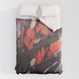 Vibrant Flower Abstract Comforters