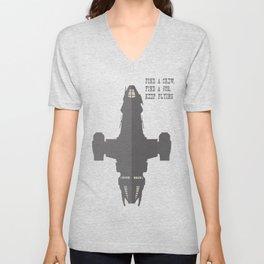 Find a Crew, Find a Job, Keep Flying Unisex V-Neck