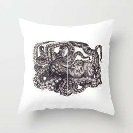 Octopus Invisble Box Throw Pillow