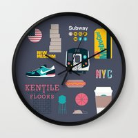 nyc Wall Clocks featuring NYC by 914k
