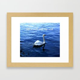 All is well with my soul Framed Art Print