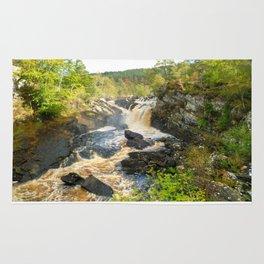 Rogie Falls at Blackwater River, Scotland Rug