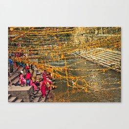 puja in kathmandu Canvas Print