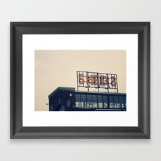 Morning Market Framed Art Print