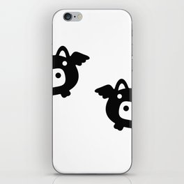 Pigs Will Fly (b&w) iPhone Skin
