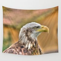 eagle Wall Tapestries featuring Eagle by MehrFarbeimLeben