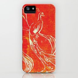 Peacock of Fire iPhone Case