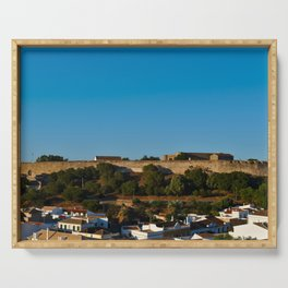 Castle of Castro Marim from the hill Serving Tray