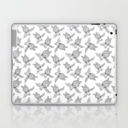 The turtles ink are swimming in white sea by Jana Sigüenza Laptop & iPad Skin