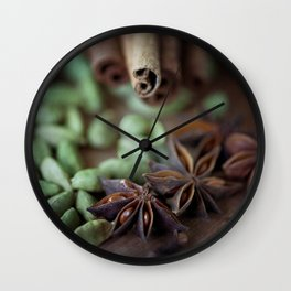 Chai Spices Wall Clock