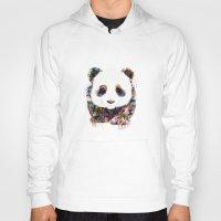 panda Hoodies featuring panda by ururuty