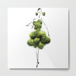 Edible Ensembles: Green Sprouts Metal Print