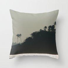 Palm Trees on Monkey Island Throw Pillow
