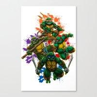 teenage mutant ninja turtles Canvas Prints featuring Teenage Mutant Ninja Turtles by Magik Tees