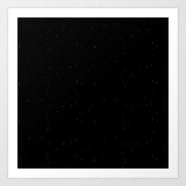 Blue Black Shambolic Bubbles Art Print