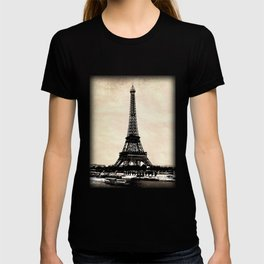 VINTAGE EIFFEL TOWER IN SEPIA T-shirt