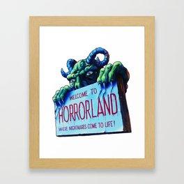 Welcome to Horrorland Framed Art Print